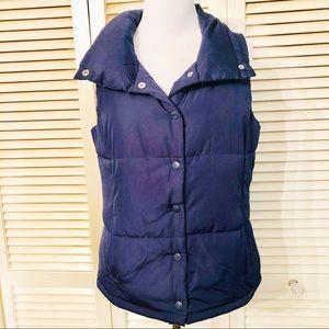 Forever 21  | Navy Snap Up Puffer Vest